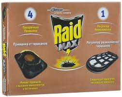 "<b>Средство от тараканов RAID</b> ""Мax"": приманка (4 штуки) + ..."