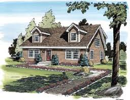 House Plan at FamilyHomePlans comCape Cod Coastal Country Traditional House Plan Elevation