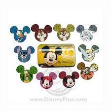 Disney Mystery Tin - Characters on Mickey Icon - <b>10 Pin Set</b> ...