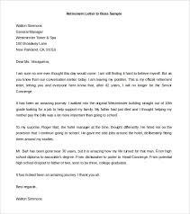 retirement letter to boss sample word doc download resignation retirement letter