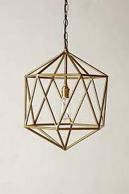 euclidean pendant faceted orb brass pendant lighting