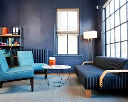 cozy living room blue sofa doylestown design studio blue office room design