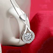 Top Quality White Gold Filled Water Drop AAAAA CZ Pendant ... - Vova