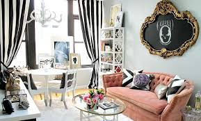 chic home office decor: by nichole loiacono design feminine home office design by nichole loiacono design