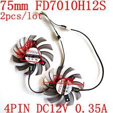 Laptop Fan Replacement <b>Firstd</b> FD7010H12S 75mm 4Pin 12V 0.35 ...