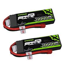 <b>OVONIC 2 Packs</b> 3S 11.1V 3000mAh 50C Lipo Battery with Dean ...