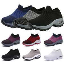 <b>Women's Sport</b> Air Cushion Sneakers <b>Breathable Mesh</b> Walking Slip ...