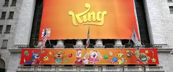 photo a banner for the mobile gaming company king is seen outside the new york candy crush king offices