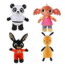 4pcs 25 30cm Bing Bunny Rabbit Funny Toy <b>Elephant Fox Panda</b> ...