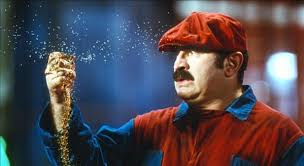 Super Mario Bros. (1993) aka Super Mario BrothersDirected by Annabel Jankel, Rocky MortonShown: Bob Hoskins (as Mario Mario) - super-mario-bros---1