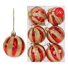 <b>Набор шаров Новогодняя сказка</b>, 6 штук, 6 см, красный — купить ...