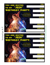 star wars the force awakens printable party decoration pack your star wars the force awakens party pack invitations