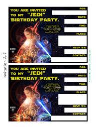 star wars the force awakens invitation thank you card the printable star wars the force awakens invitation thank you card templates
