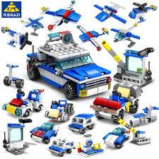 305Pcs <b>16IN1 City Police</b> Guard Car Building Blocks Sets ...