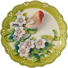 <b>Декоративная тарелка Lefard</b> Птица, 59-173, зеленый, диаметр ...