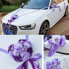 <b>Wedding Car</b> Ribbon Married Car Decorations <b>Bridal Car</b> ...