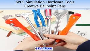 <b>6pcs Simulation Hardware</b> Tools Creative Ballpoint Pens Office ...