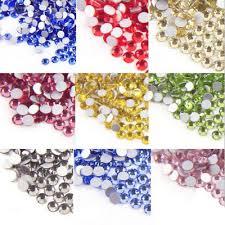 <b>TOP Quality SS3-SS30 Crystal</b> Flatback Nail Rhinestones Nail Art ...