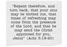 Image result for a time for repentance