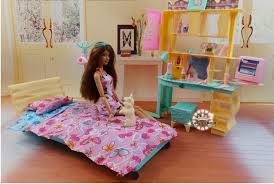 2015 doll bed cabinet set dollhouse bedroom furniture diy accessories barbie kurhn pretend play toy barbie doll house furniture sets