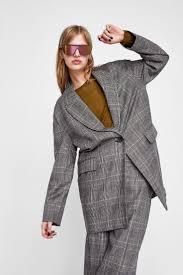 изображение 1 из <b>ПИДЖАК</b> ОВЕРСАЙЗ В КЛЕТКУ от Zara ...