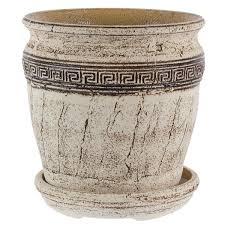 <b>Горшок</b> цветочный «<b>Аттика</b> №5» 18 л 340 мм, шамотная глина в ...