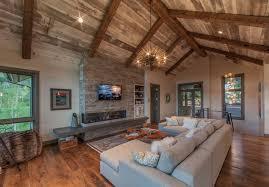 starburst chandelier living room rustic with barn board barnwood barnwood ceiling concrete hearth chandelier barn board