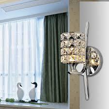 Online Shop <b>Modern Crystal Wall Lamp</b> Sconce K9 E27 Bed room ...