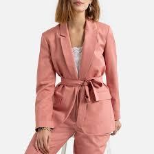 <b>Блейзер прямого</b> покроя с ремешком розовый <b>La Redoute</b> ...