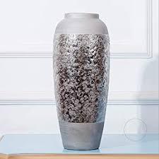 Fighrh <b>European</b> Snowflake Silver Plated <b>Ceramic Vase</b> Living ...