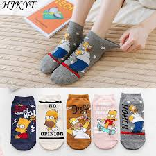 <b>HJKYT summer</b> cartoon simpsons socks van gogh skateboard men ...