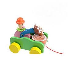Buy <b>Cute Cartoon</b> Wooden Animal Knock Drum <b>Push Pull</b> Toy for ...
