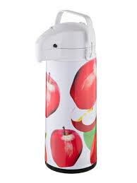 """Термос со стеклянной колбой и помпой """"спелые яблоки"""" 1,9 л ..."""