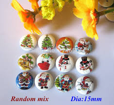 <b>200 pcs</b>/lot Random <b>Mixed Christmas</b> Pattern Wooded Buttons ...