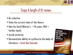 Scope and lenght of Literature Review Pinterest