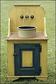washstand bathroom pine: vessel sink from an upcycled enamel pot and a washstand very similar to what im thinking of doing
