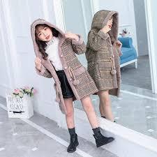 Pink <b>Girls Winter</b> Jackets Coats Imitated Mink Cashmere Kids ...