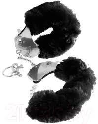 Pipedream <b>Furry Love</b> Cuffs / 16086 (с черным мехом) <b>Наручники</b> ...