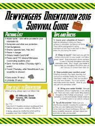 newvengers 2016 new college orientation coordinators