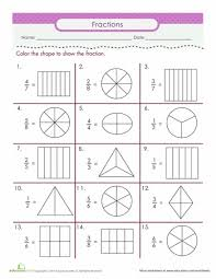 Fractions Worksheets & Free Printables | Education.com5th Grade. Math · Worksheet. Color the Fraction