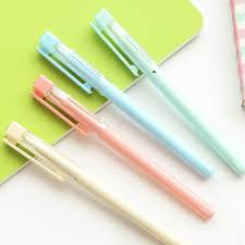 <b>Cute</b> Macaroon Candy Color Plastic Signature Gel Pen Black Ink ...