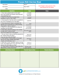 process walk interview sheet aka gemba walk interview sheet process walk interview sheet aka gemba walk interview sheet