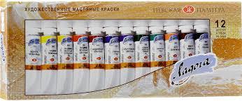 <b>Невская</b> палитра <b>Краски масляные</b> Ладога 12 цветов — купить в ...
