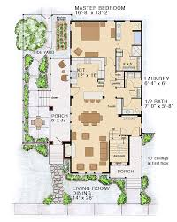House Plan at FamilyHomePlans comBungalow Coastal Cottage Country Farmhouse Traditional House Plan Level One