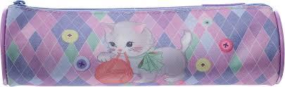 <b>Пенал</b>-<b>тубус Tiger Family</b> Playfull Kitten, розовый, фиолетовый ...