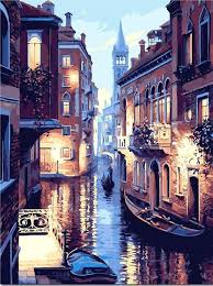 Lights of Venice - Paint by Numbers Kits for Adults <b>DIY</b> in 2019 ...