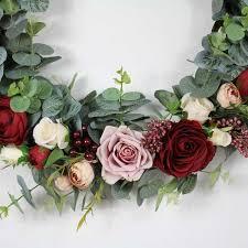 Online Shop <b>Artificial Wreath</b> Rose <b>Floral Garland</b> Door <b>Wreath</b> ...