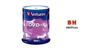 <b>Verbatim DVD</b>+<b>R 4.7GB 16x</b> Disc (100 Pack) 95098 B&H Photo Video