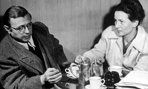 Image result for images french intellectuals at paris cafes 40s 50s