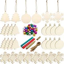 Unfinished Christmas Wooden Ornaments, 30PCS ... - Amazon.com